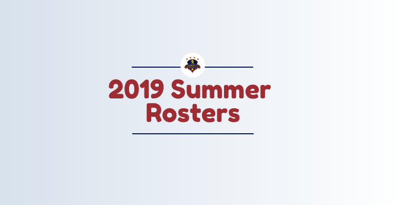 2019 Summer Rosters