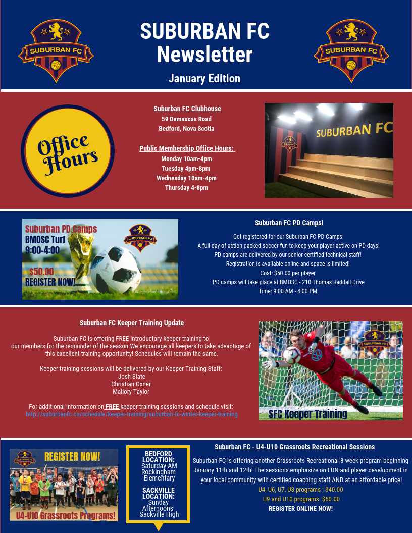 Suburban FC - January Edition