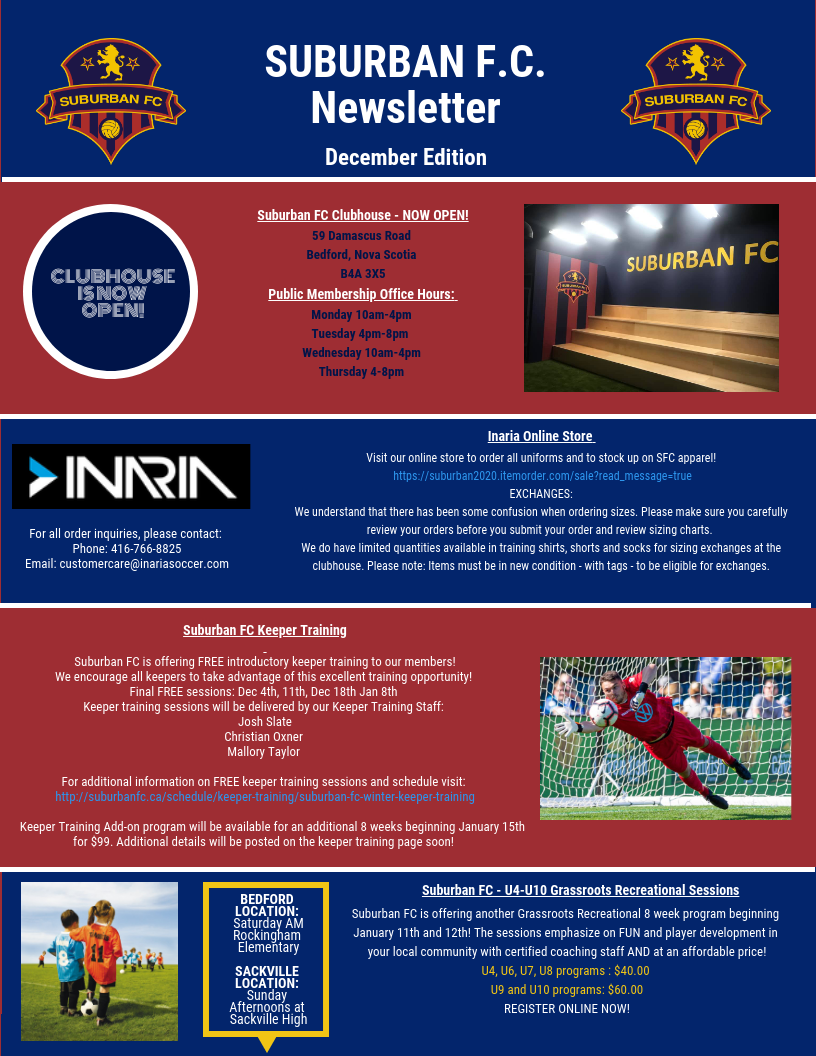 Suburban FC Newsletter - December Edition